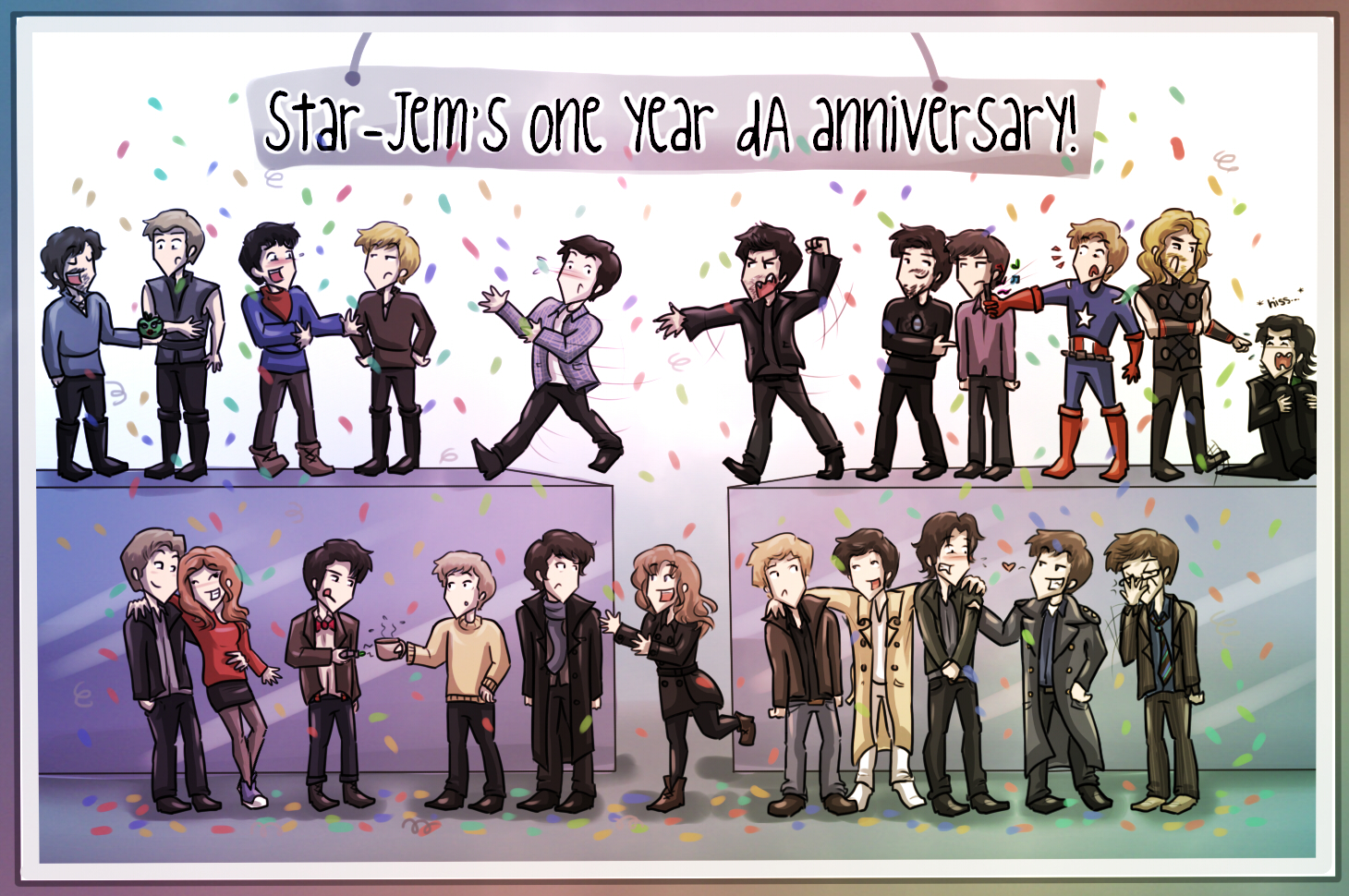 Multi fandom - 1 year anniversary by Star-Jem