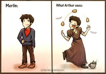 How Arthur sees Merlin