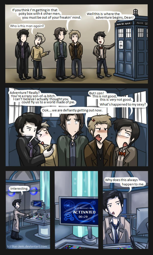 Superwholock: TARDIS Troubles by Star-Jem