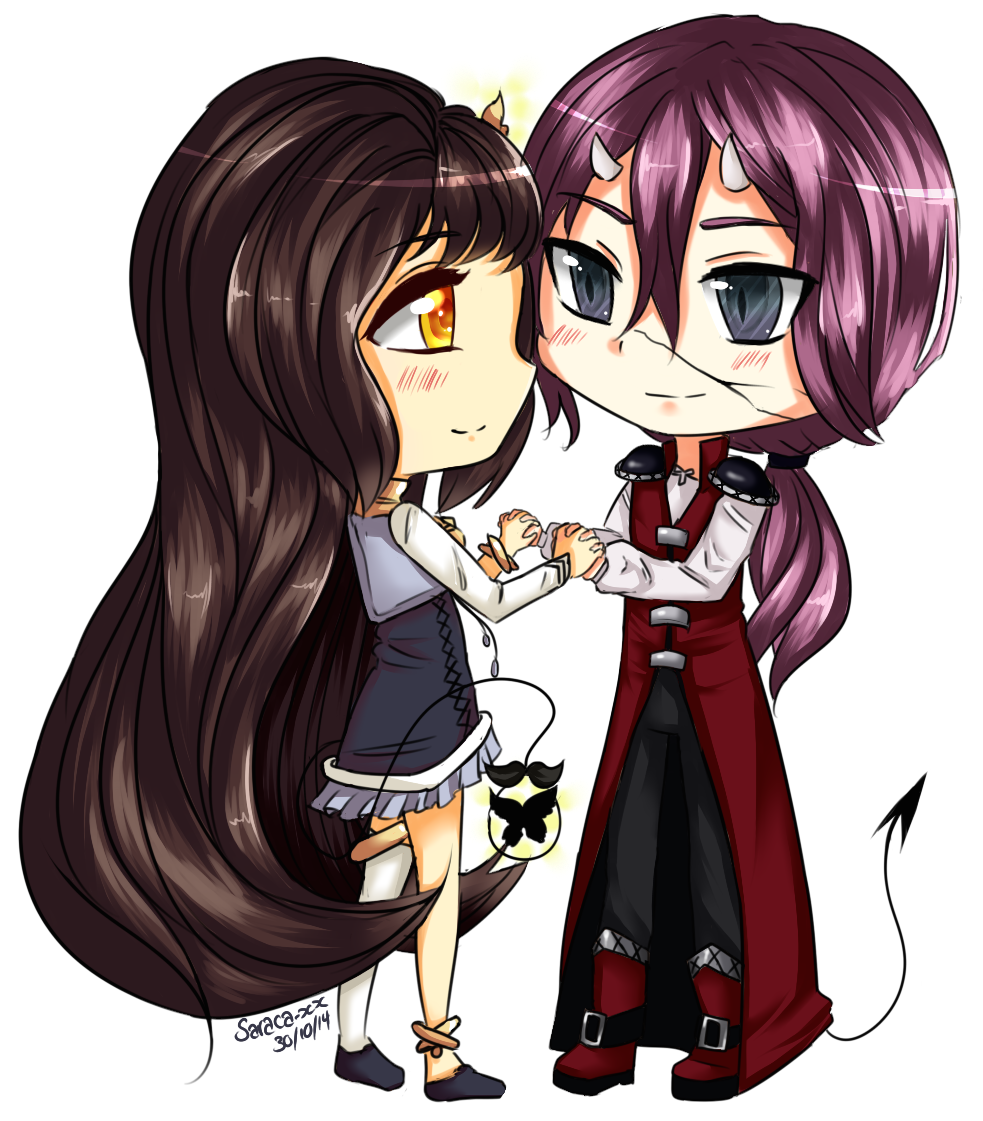 Maddy and Caillen~ [CM] by Saraca-xx