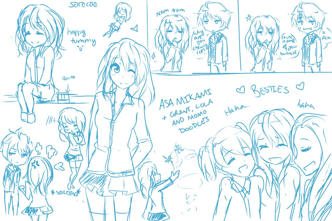 Asa Mikami + friends~ [cm] by Saracaa