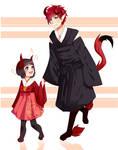 Hanabi and Kotaro~ |cm|