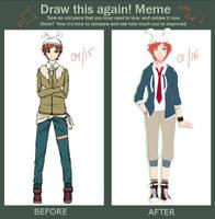 Draw This Again Meme by Saracaa