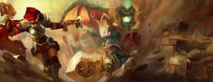Demon Hunter vs Mannoroth by GodofWar300
