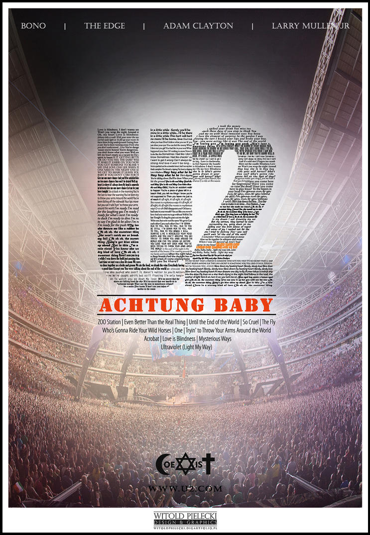U2 poster - Achtung Baby by MiodekSamson