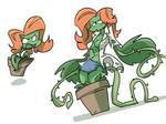 Plant Woman Concept