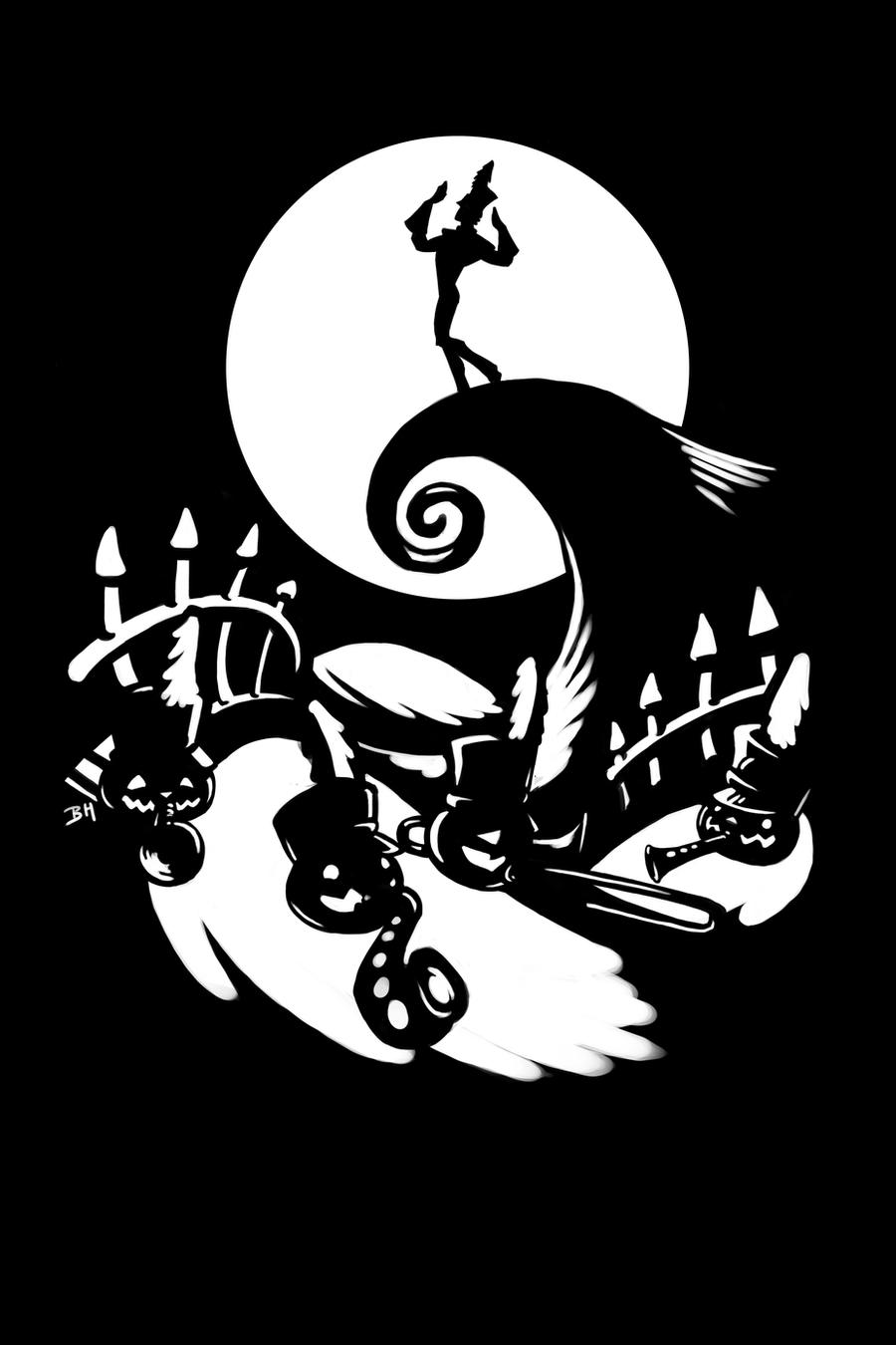 The Nightmare Before Christmas T-Shirt Design by Neverwinterphoenix ...