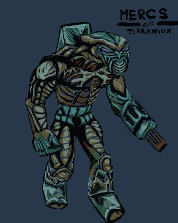 06Sept - Mercenary in Colour by Destro7000