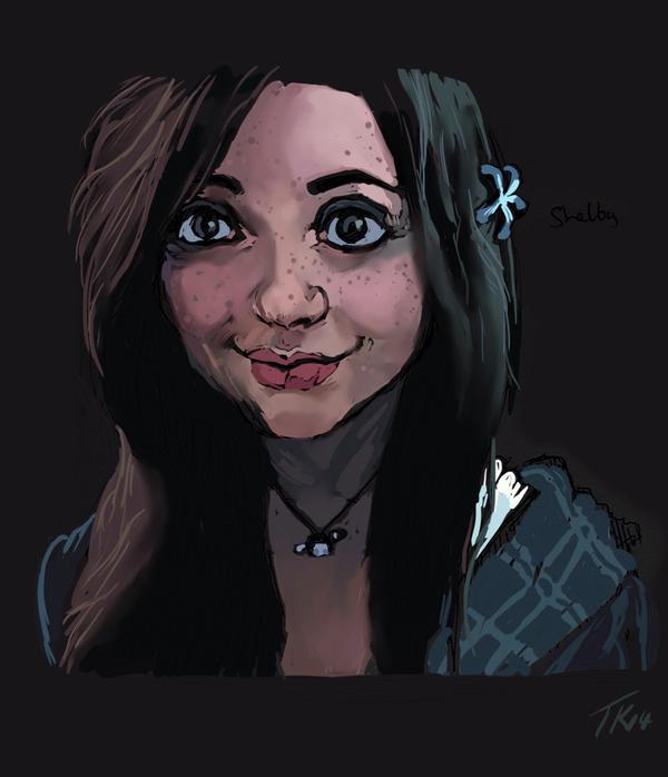 NOVART16 - Freckly girl by Destro7000