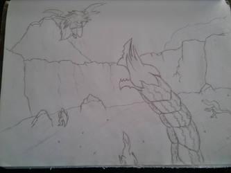 Monster attack traditional art by HRT-ART-NARAKA