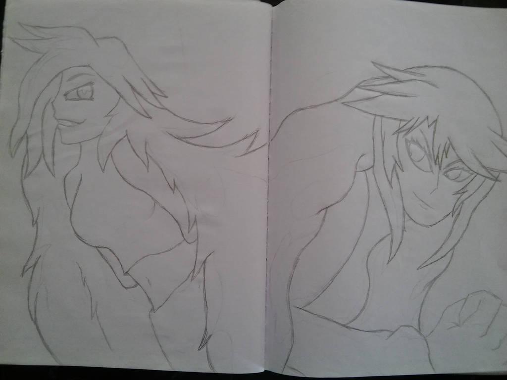 Diana and rival traditional art by HRT-ART-NARAKA
