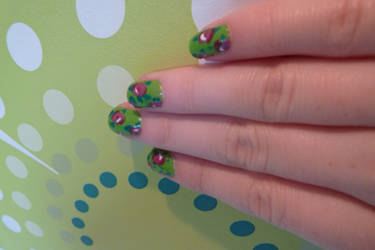 Flower nail art