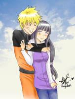 Older Naruto + Hinata by frostyshark
