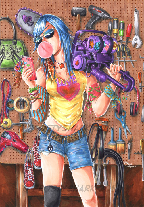 Chainsaw Girl by frostyshark