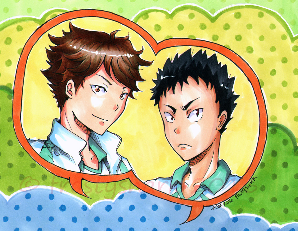 Iwazumi and Oikawa by frostyshark