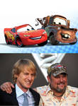 Owen Wilson and Larry the Cable Guy together
