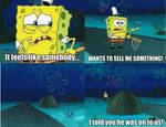 Who was trying to sell Spongebob something