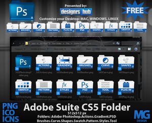 Free Set of Adobe Photoshop Suite CS5 Folder Icons