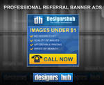 Free Professional Referral Banner Ads Template PSD