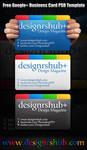 Free Google Plus Business Card PSD Template