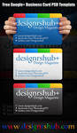 Free Google Plus Business Card PSD Template