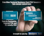 Two Free Blue Textured Business Card PSD Template