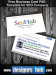 Free Business Card PSD Template for SEO Company