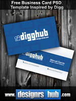 Free Business Card PSD Template Inspired by Digg by MGraphicDesign