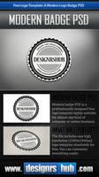 Free Logo Template: A Modern Logo Badge PSD