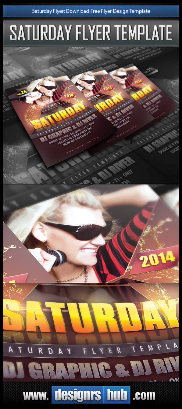 Download Free Party Flyer Design Template