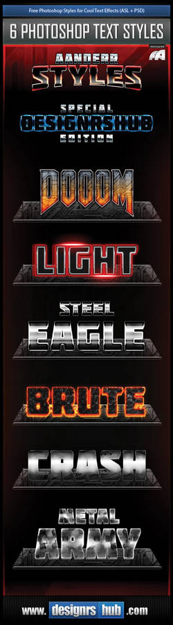 Free Photoshop Styles for Cool Text Effects