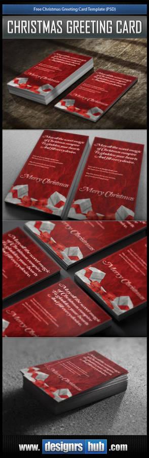 Free Christmas Greeting Card Template (PSD)