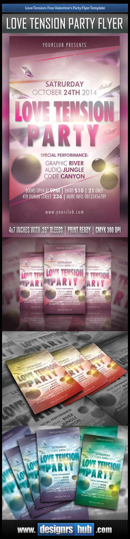 Free Happy Valentine Flyer Template