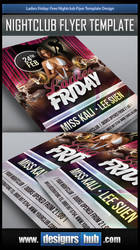 Free Nightclub Flyer Template Design PSD