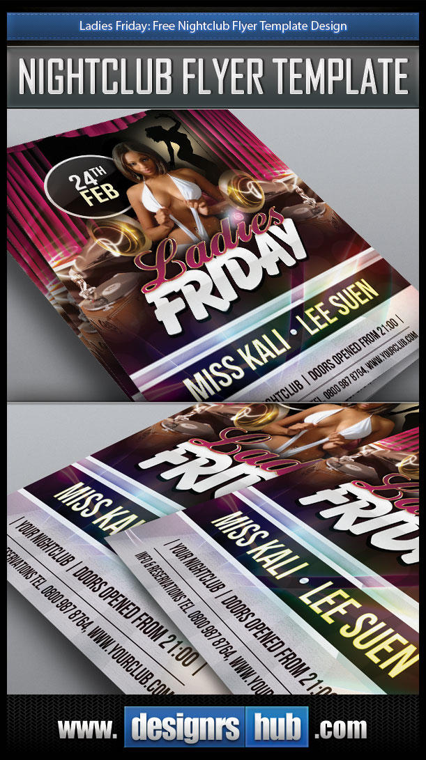 Free Nightclub Flyer Template Design PSD