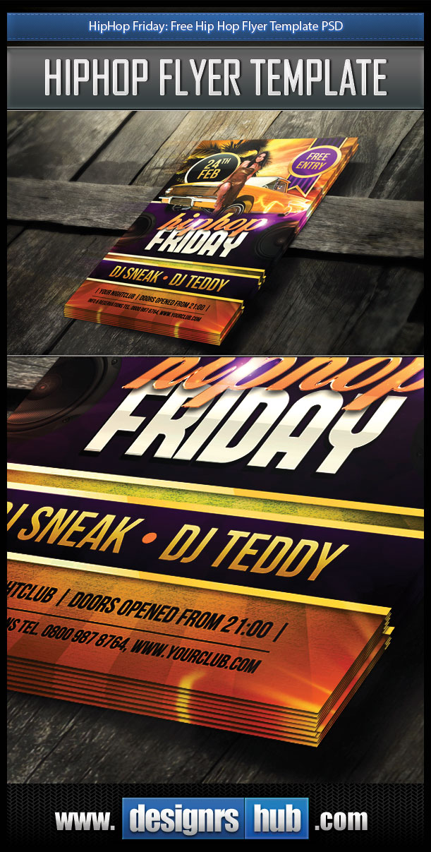 Free HipHop Flyer PSD Template by MGraphicDesign