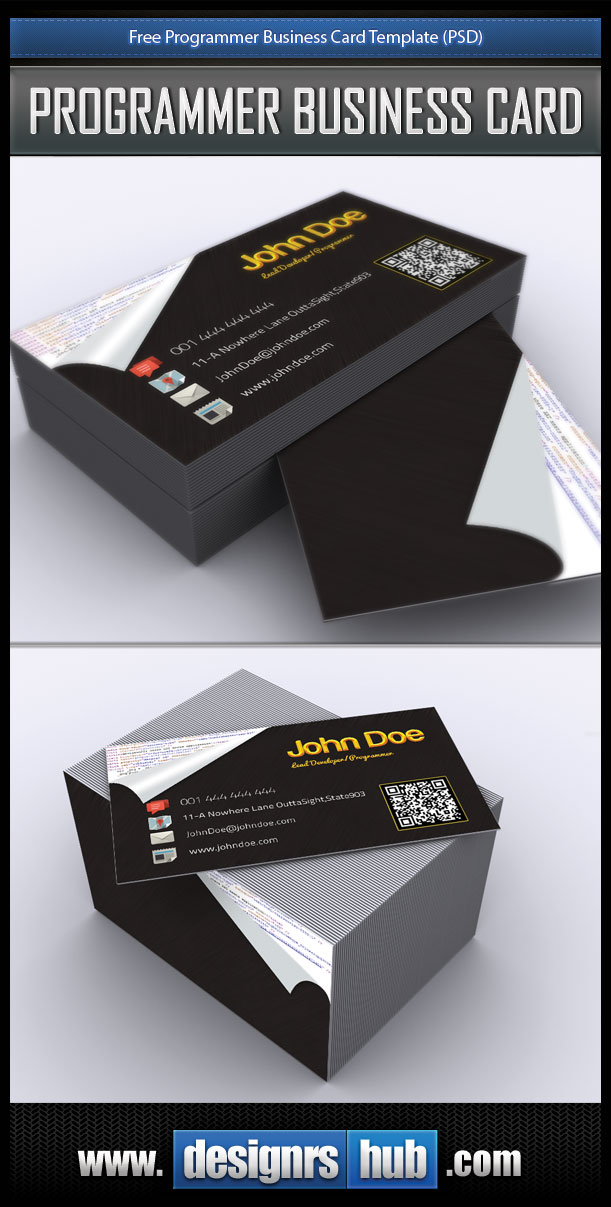 Free Business Card PSD Template for Programmer by MGraphicDesign on ...
