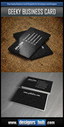 Free Developer Business Card Template PSD