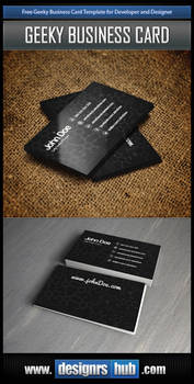 Free Developer Business Card Template PSD