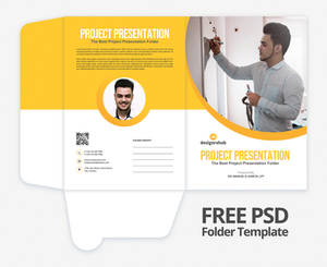 Free Folder Presentation PSD Template