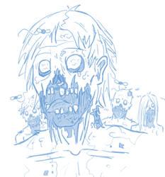 Zombies (sketch) by Cisper97