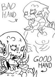 Bad hand vs Good hand