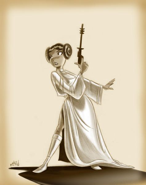 Princess Leia by mikemaihack