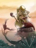 Blonde Mermaid by mikemaihack