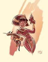 Colored Cleo Sketch 02 by mikemaihack