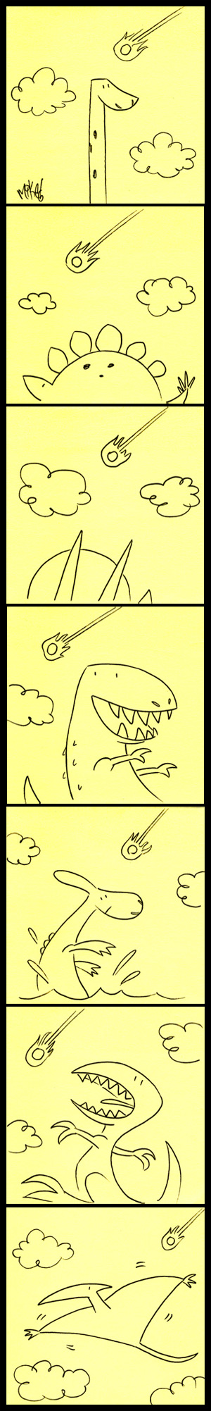 Dino Post-its by mikemaihack