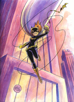 Batgirl Watercolor