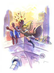 Spidey and Gwen by mikemaihack