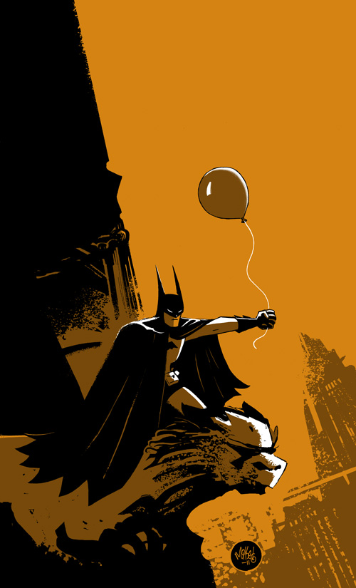 Batman with a Balloon by mikemaihack