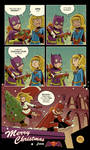 Merry Christmas from Batgirl and Supergirl